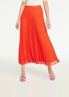 Ann Taylor Petite Pleated Maxi Skirt