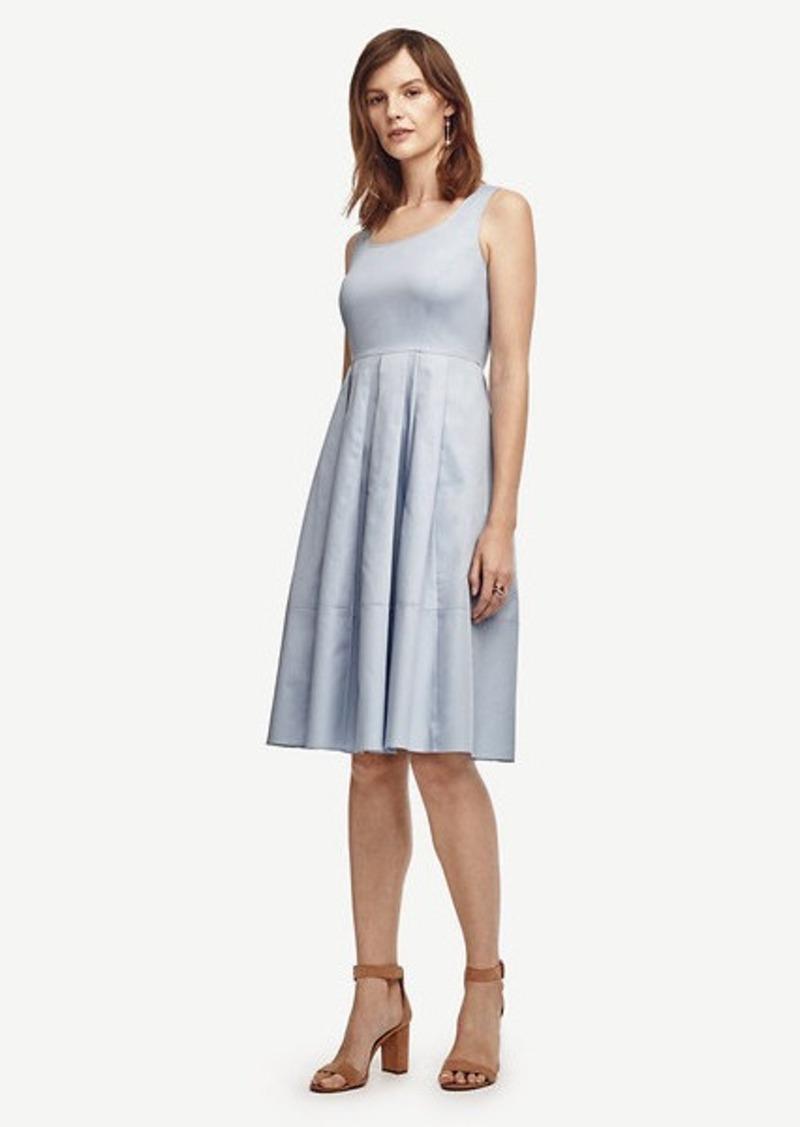 Ann Taylor Petite Pleated Skirt Dress