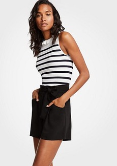 Ann Taylor Petite Pleated Tie Waist Shorts