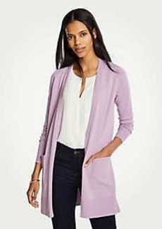 Ann Taylor Petite Pocket Open Cardigan