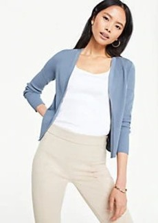 Ann Taylor Petite Pointelle Cropped Cardigan
