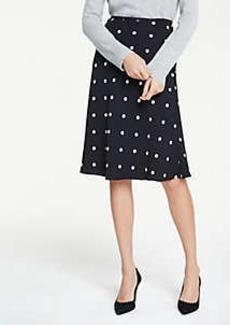 Ann Taylor Petite Polka Dot Flare Skirt