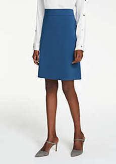Ann Taylor Petite Ponte A-Line Skirt