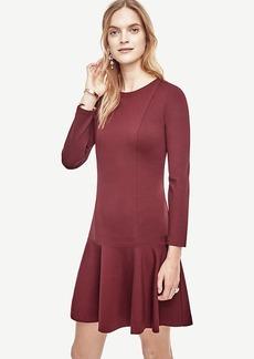Petite Ponte Flounce Dress