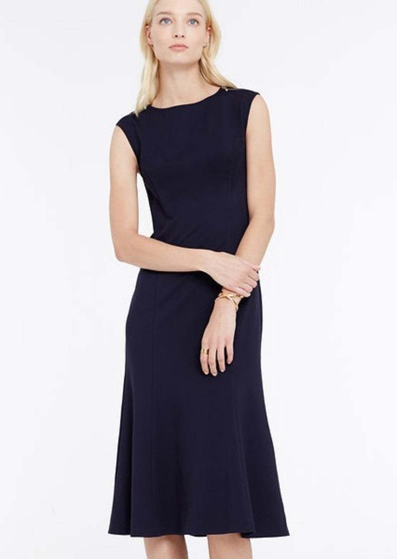 Ann taylor petite ponte shoulder zip midi dress dresses for Robes de noce ann taylor