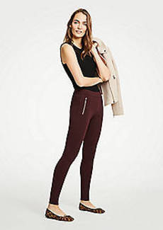 Ann Taylor Petite Ponte Zip Pocket Leggings