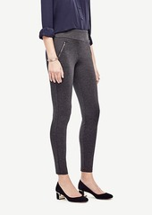 Ann Taylor Petite Ponte Zipper Leggings