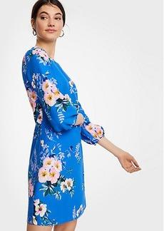 Ann Taylor Petite Poppy Lantern Sleeve Shift Dress
