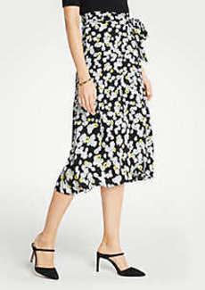 Ann Taylor Petite Poppy Tie Waist Wrap Skirt