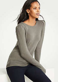 Ann Taylor Petite Puff Shoulder Sweater