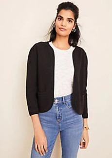 Ann Taylor Petite Puff Sleeve Open Sweater Jacket