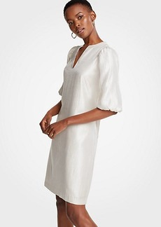Ann Taylor Petite Puff Sleeve Shift Dress