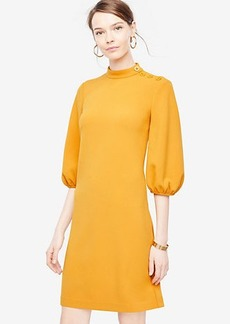 Ann Taylor Petite Puff Sleeve Shift Dress
