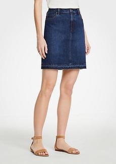 Ann Taylor Petite Released Hem Denim Skirt