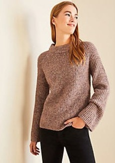 Ann Taylor Petite Ribbed Mock Neck Sweater