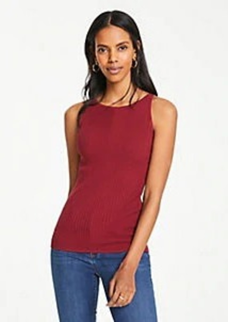 Ann Taylor Petite Ribbed Sweater Shell