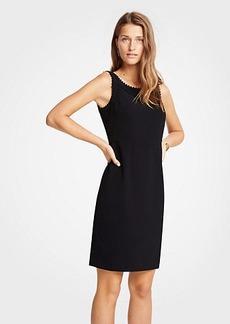 Ann Taylor Petite Scalloped Sheath Dress