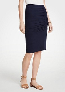 Ann Taylor Petite Ruched Knit Pencil Skirt