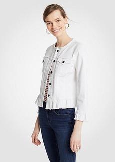Ann Taylor Petite Ruffle Denim Jacket