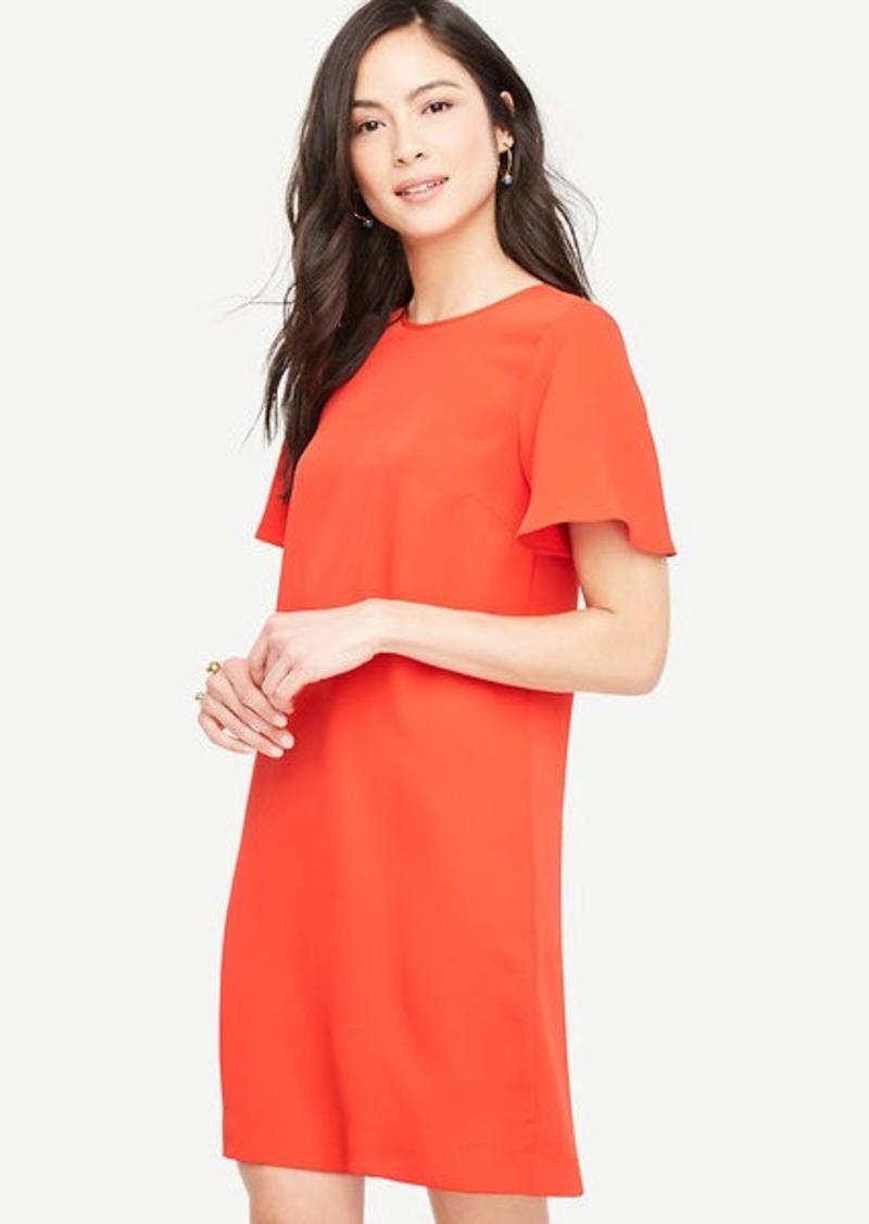 5f9665a42d1 Ann Taylor Petite Ruffle Sleeve Shift Dress
