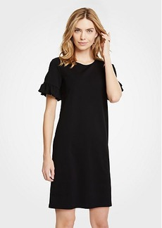 Ann Taylor Petite Ruffle Sleeve Shift Dress