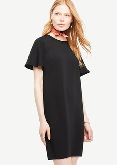 Petite Ruffle Sleeve Shift Dress