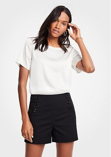 Ann Taylor Petite Sailor Button Shorts