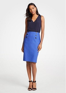 Ann Taylor Petite Sailor Pencil Skirt
