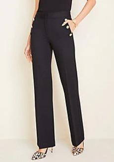 Ann Taylor Petite Sailor Ponte Flare Trousers
