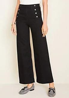Ann Taylor Petite Sailor Wide Leg Crop Jeans