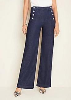 Ann Taylor Petite Sailor Wide Leg Jeans