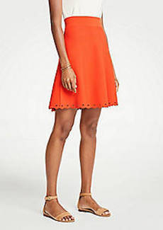 Ann Taylor Petite Scalloped Knit Skirt