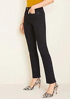 Ann Taylor Petite Sculpting Pocket High Rise Straight Leg Jeans in Black Wash