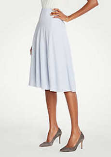 Ann Taylor Petite Seamed Full Skirt