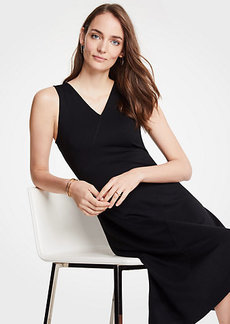 Ann Taylor Petite Seamed Midi Dress