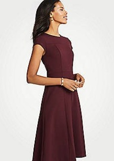 Ann Taylor Petite Seamed Ponte Flare Dress