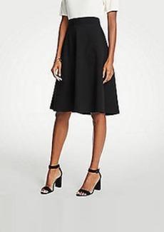 Ann Taylor Petite Seamed Ponte Full Skirt