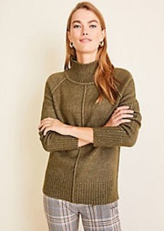 Ann Taylor Petite Seamed Turtleneck Tunic Sweater