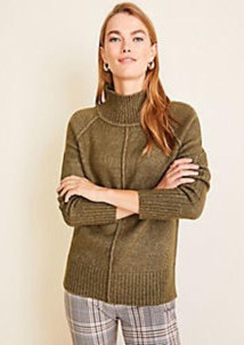 Ann Taylor Petite Seamed Turtleneck Tunic Sweater