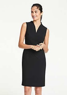 Ann Taylor Petite Seasonless Stretch Belted Sheath Dress