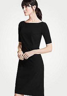 Ann Taylor Petite Seasonless Stretch Elbow Sleeve Sheath Dress
