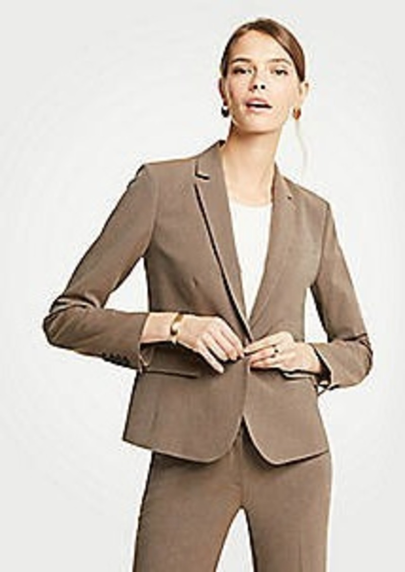 Ann Taylor Petite Seasonless Stretch One Button Jacket