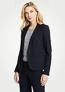 Ann Taylor The Petite One-Button Blazer in Seasonless Stretch