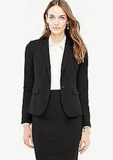 Ann Taylor Petite Seasonless Stretch One Button Perfect Blazer