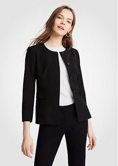 Ann Taylor Petite Seasonless Stretch Peplum Jacket