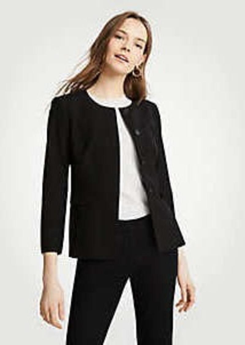 d7bea30c3 Ann Taylor Petite Seasonless Stretch Peplum Jacket | Outerwear