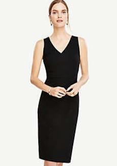 Ann Taylor Petite Seasonless Stretch Seamed Sheath Dress