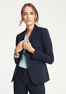 Ann Taylor The Petite Long 2-Button Blazer in Seasonless Stretch