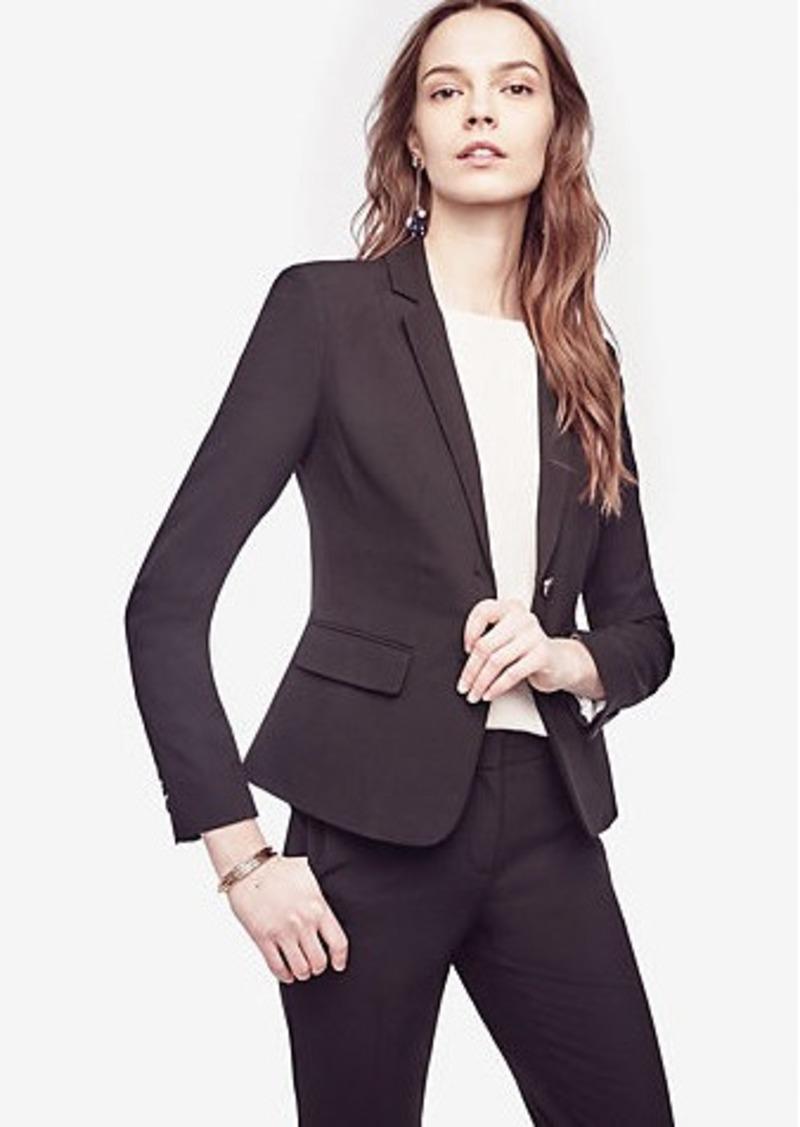 54f52960a Ann Taylor Petite Seasonless Stretch Two Button Jacket Now $139.99