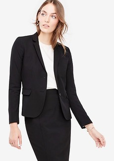 Ann Taylor Petite Seasonless Stretch Two Button Perfect Blazer